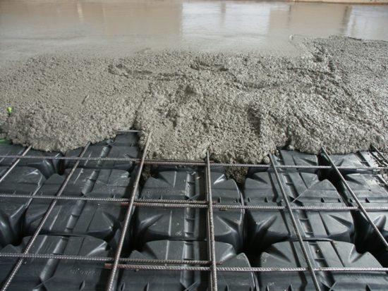 stavební práce - systém ztraceného bednění pro odlehčení základových konstrukcí a podlah