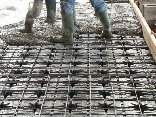 stavební práce s prvky ztraceného bednění MULTIMODULO