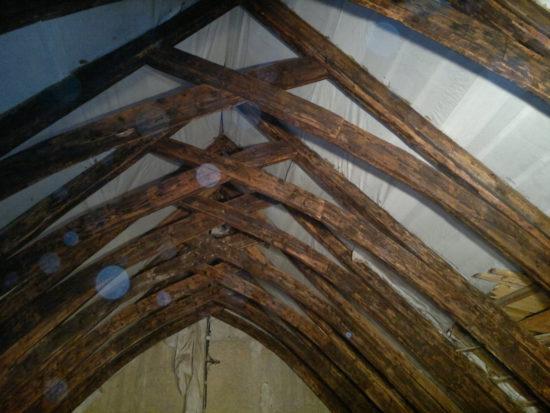 dřevěná konstrukce krovu