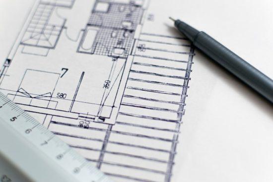 nákres půdorysu budovy