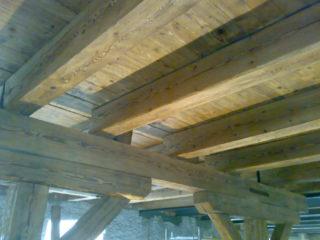 likvidace dřevokazného škůdce, který napadl dřevěný strop objektu