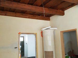 dřevěný strop v krumlově