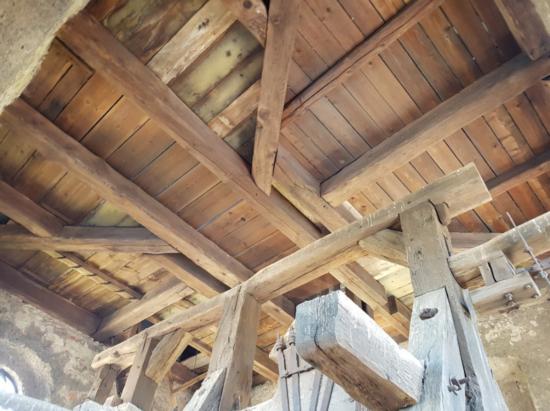 strop kostela po sanaci