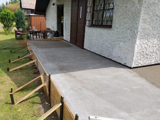 terasa před dokončením
